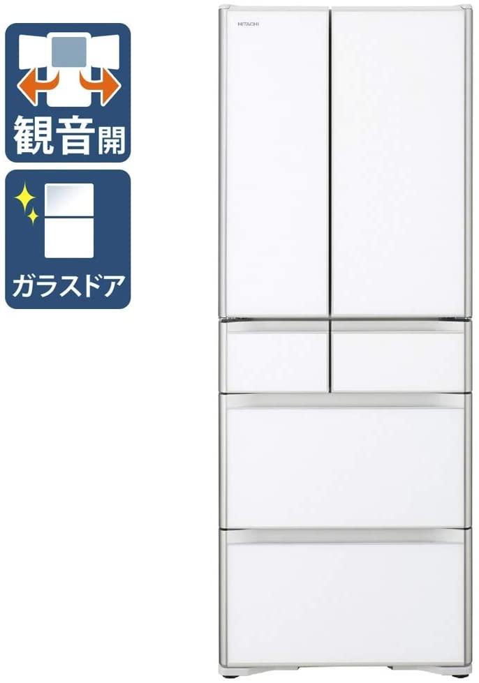 【標準設置工事付】日立 冷蔵庫[6ドア/フレンチドア/505L]R-X51N-XW(クリスタルホワイト)