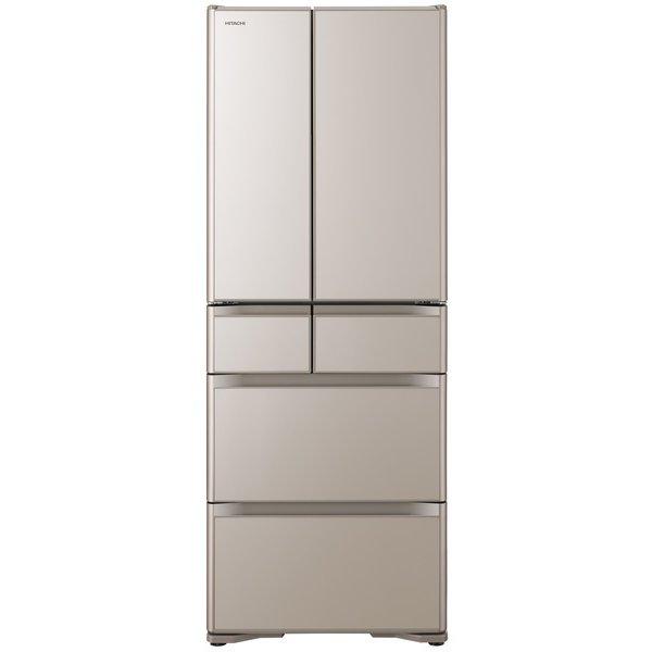 【標準設置工事付】日立 冷蔵庫[6ドア/フレンチドア/475L]R-X48N-XN(クリスタルシャンパン)
