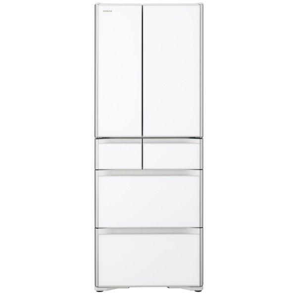 【標準設置工事付】日立 冷蔵庫[6ドア/フレンチドア/475L]R-X48N-XW(クリスタルホワイト)