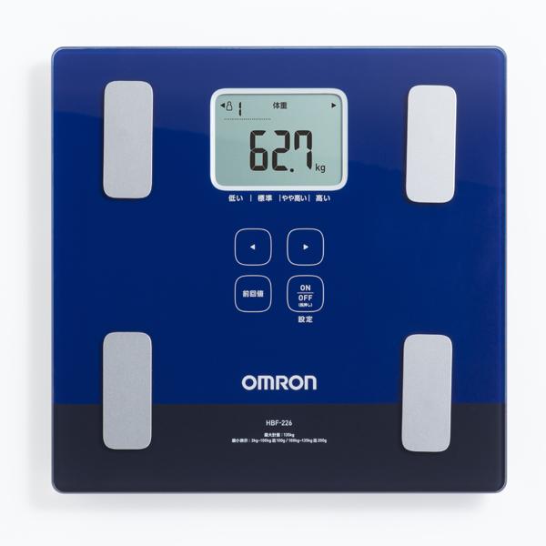 【オムロン】体重体組成計 カラダスキャン 約幅28.5×奥28×高さ2.8cm ダークブルー