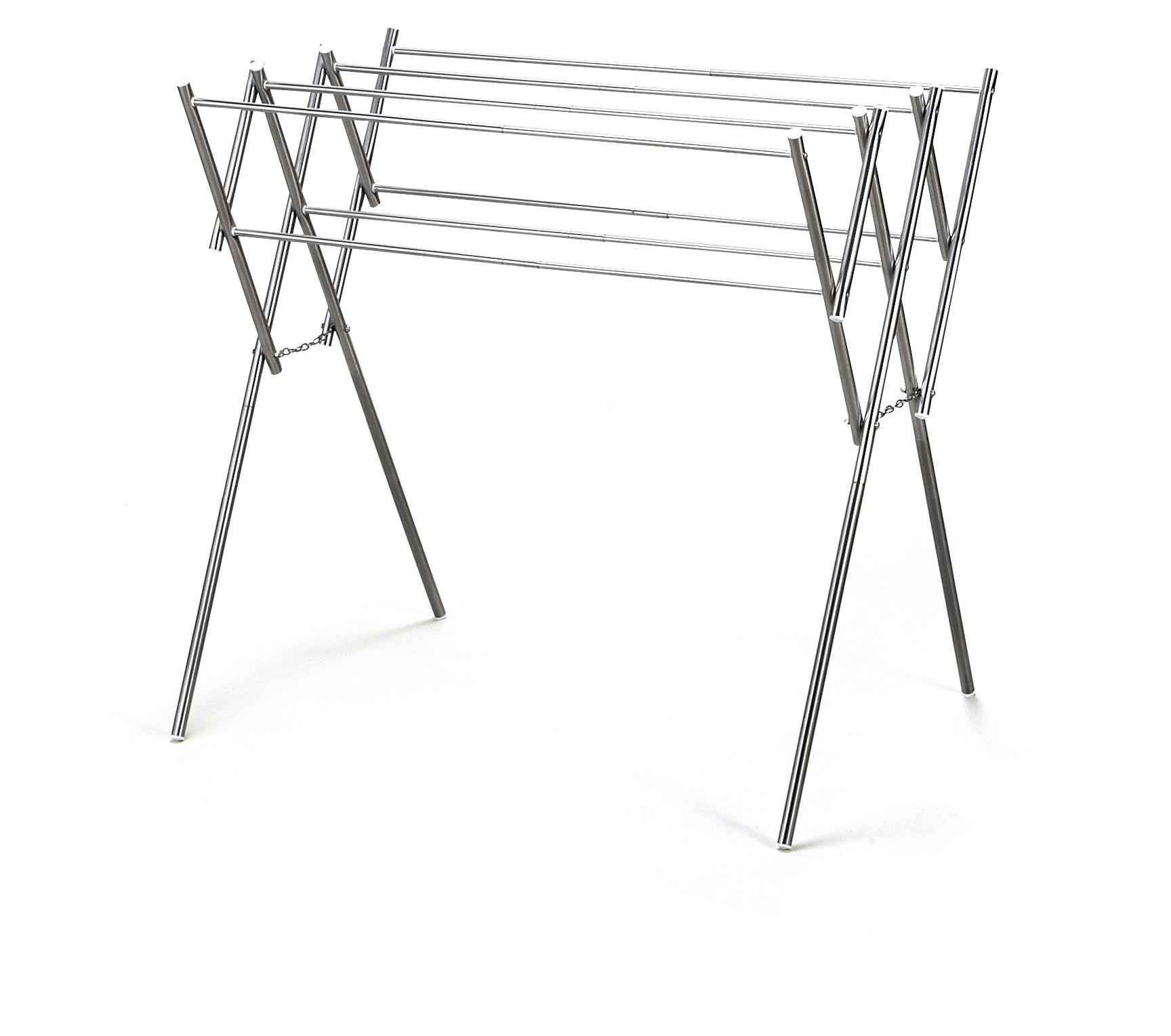 【ティアンドエヌ】ステンレス物干し 使用時/約48~79.5×56.5×高さ77cm、収納時/約48×9×高さ85cm
