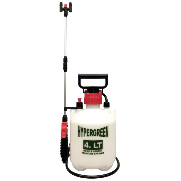 【マルハチ産業】蓄圧式噴霧器4L 二頭口 約径19×高さ36cm・4L ホワイト