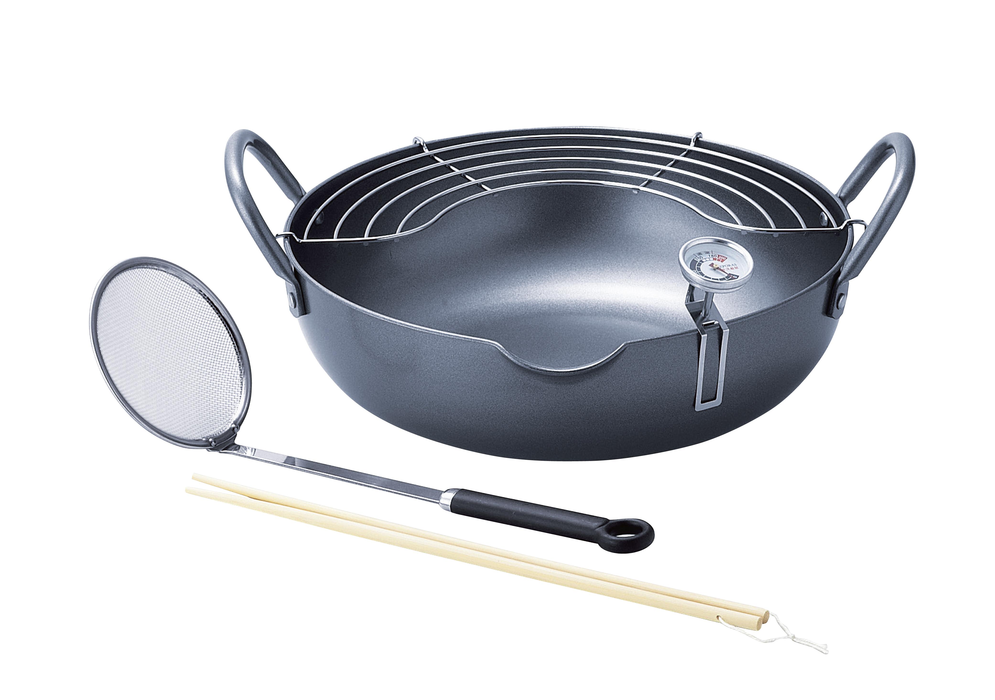 【タマハシ】揚げ鍋28cm 約径28×高さ8.5cm・適正油量1.6L・重量約3kg