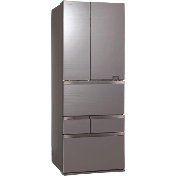 【配送設置込】東芝 GR-S550FZ(ZH) [冷蔵庫 (551L・フレンチドア6ドア )べジータ アッシュグレージュ]