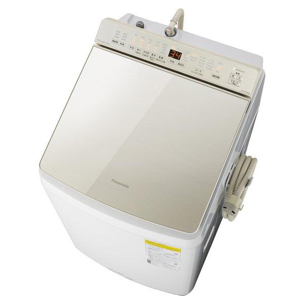 【配送設置込】パナソニック NA-FW100K8-N [縦型洗濯乾燥機 洗濯10kg 乾燥5kg 泡洗浄 シャンパン]