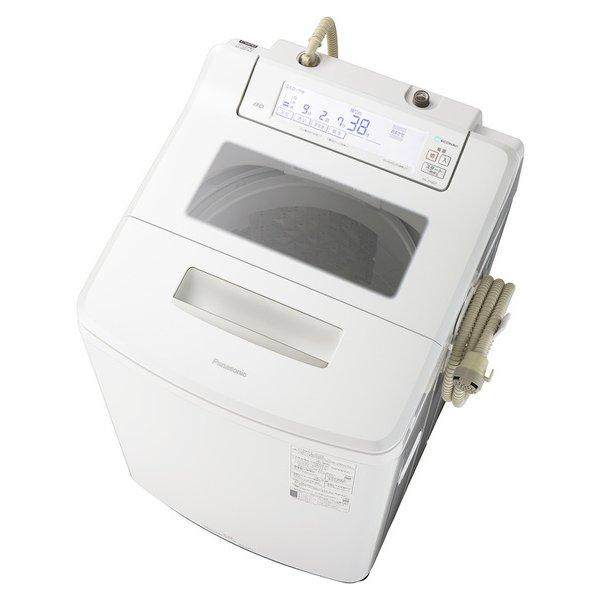 【配送設置込】パナソニック NA-JFA807-W [全自動洗濯機 洗濯8kg 泡洗浄 クリスタルホワイト]