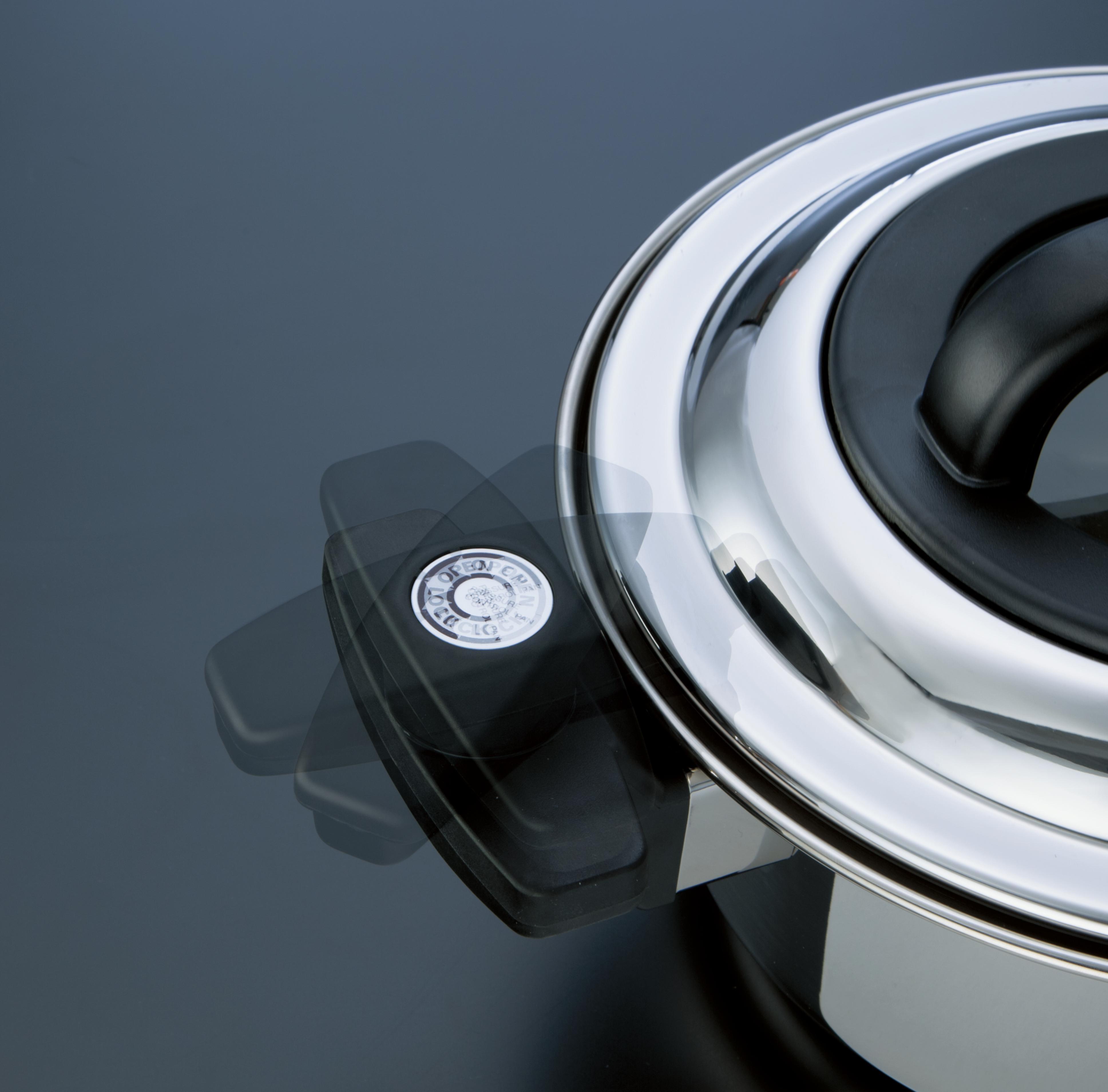【万年】ベローナ 調圧鍋24cm 約径24×高さ12.5cm・満水容量5.5L・重量約3kg
