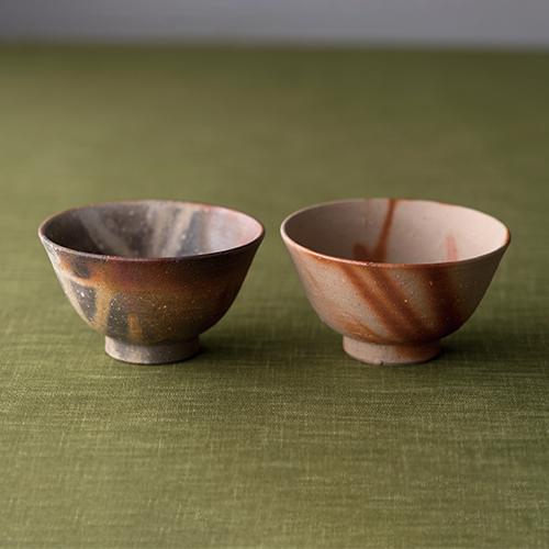 備前焼 陶吉作 組茶碗 【日本製】