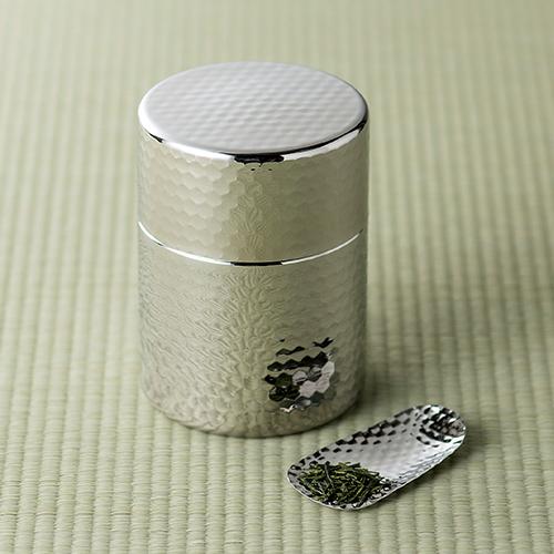 郷技 ステンレス茶筒(茶箕付) 【日本製】
