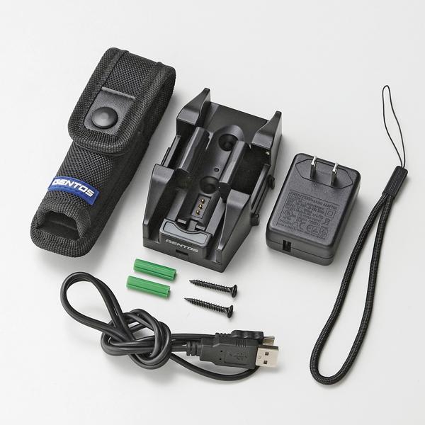 【ジェントス】充電式ハンディライト ブラック