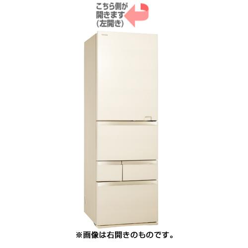 【配送設置込】東芝 GR-S470GZL(ZC)[冷蔵庫(465L・左開き) 5ドア べジータ ラピスアイボリー]