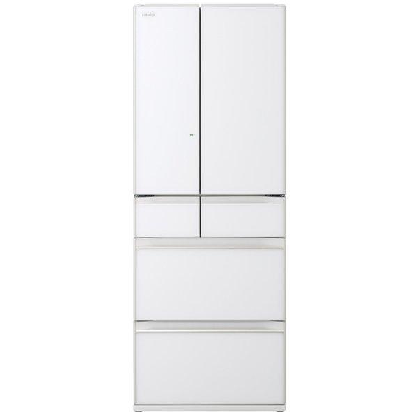 【配送設置込】日立 R-HW60N-XW [冷蔵庫 (602L・フレンチドア) 6ドア クリスタルホワイト]