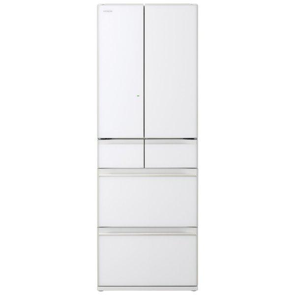 【配送設置込】日立 R-HW48N-XW [冷蔵庫 (475L・フレンチドア) 6ドア クリスタルホワイト]