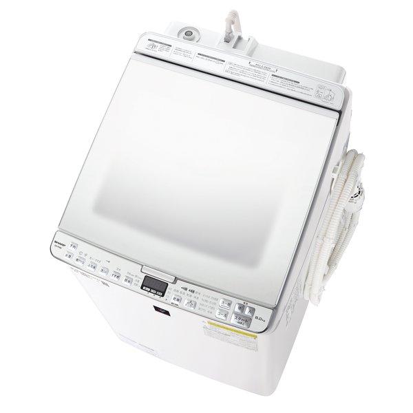 【配送設置込】シャープ ES-PX8E-W [縦型洗濯乾燥機 洗濯8.0kg/乾燥4.5kg ホワイト系]