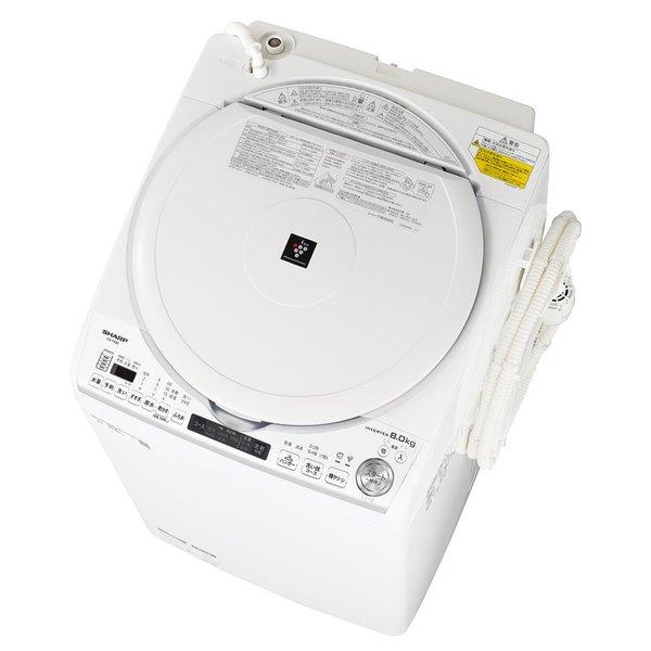 【配送設置込】シャープ ES-TX8E-W [縦型洗濯乾燥機 洗濯8.0kg/乾燥4.5kg ホワイト系]