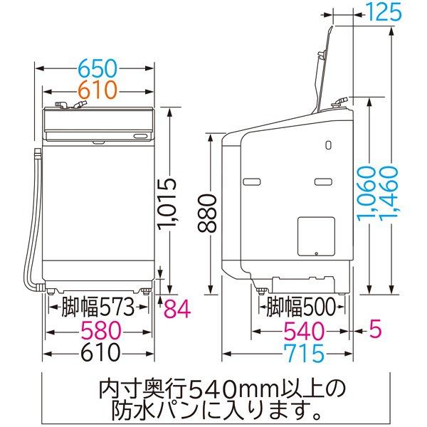 【標準設置工事付】日立 BW-DX120F W [縦型洗濯乾燥機 ビートウォッシュ 洗濯12kg 乾燥6kg]