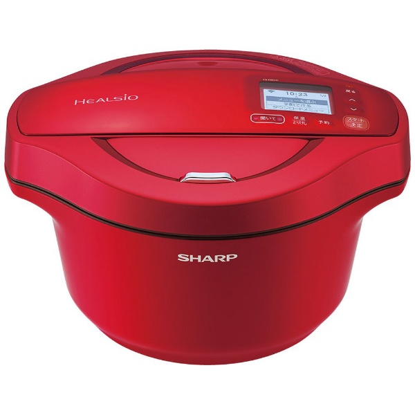 【シャープ】 KN-HW24F-R 水なし自動調理鍋 HEALSIO(ヘルシオ) ホットクック 2.4L レッド系
