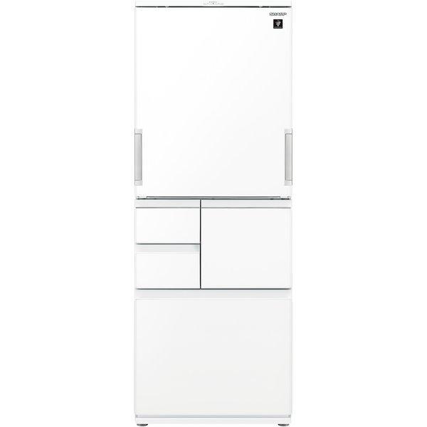 【標準設置工事付】シャープ  SJ-AW50G-W プラズマクラスター冷蔵庫 (502L・どっちもドア)