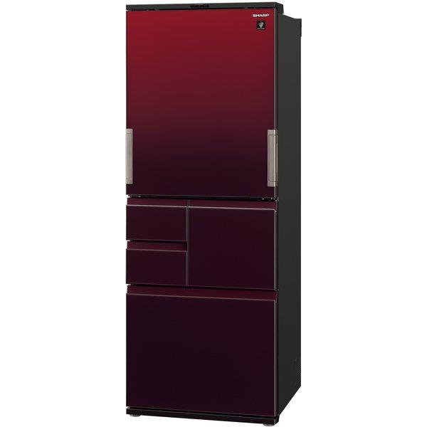 【標準設置工事付】シャープ  SJ-AW50G-R プラズマクラスター冷蔵庫 (502L・どっちもドア)