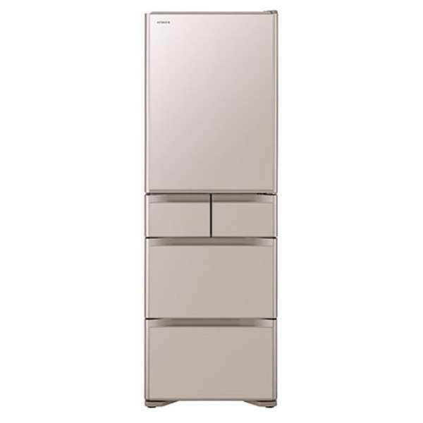 【標準設置工事付】日立 R-S40N XN 冷蔵庫 (401L・右開き) 5ドア クリスタルシャンパン