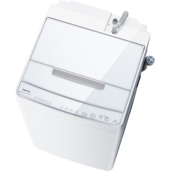 【標準設置工事付】東芝 AW-12XD9(W)[全自動洗濯機 ZABOONウルトラファインバブル洗浄W12kgグランホワイト]