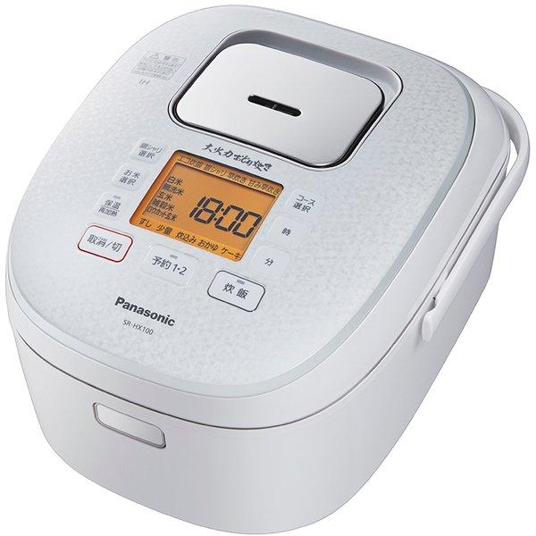 【パナソニック】SR-HX100-W IHジャー炊飯器  大火力おどり炊き ダイヤモンド銅釜 5.5合炊き スノーホワイト
