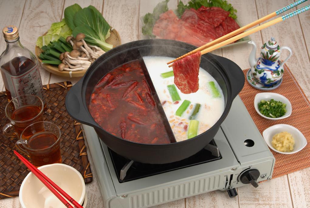 【杉山金属】仕切り鍋26cm 約径26×高さ10.6cm・満水容量4.3L・重量約1.8kg