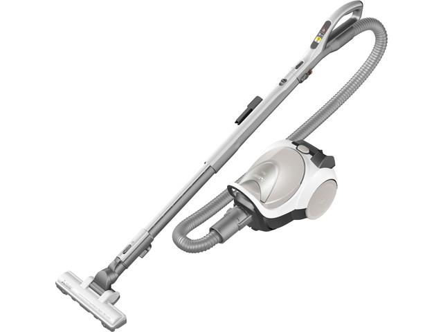【三菱電機】紙パック式掃除機 Be-K(軽量タービンブラシ) 本体:約幅21×奥行32.3×高さ21cm アイボリー