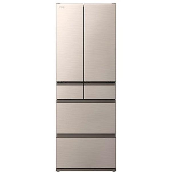 【標準設置工事付】日立 R-H52N N [冷蔵庫(520L・フレンチドア) 6ドア シャンパン]