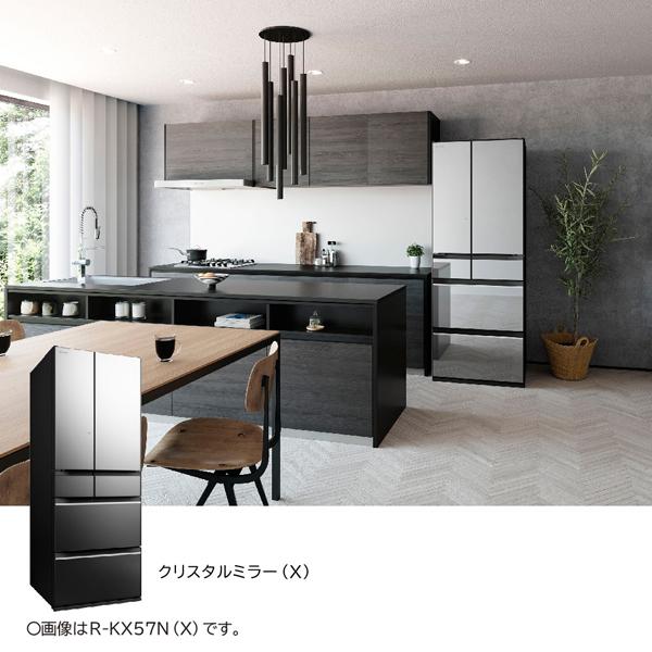 【標準設置工事付】日立R-KX50N X [冷蔵庫(498L・フレンチドア) 6ドア クリスタルミラー]