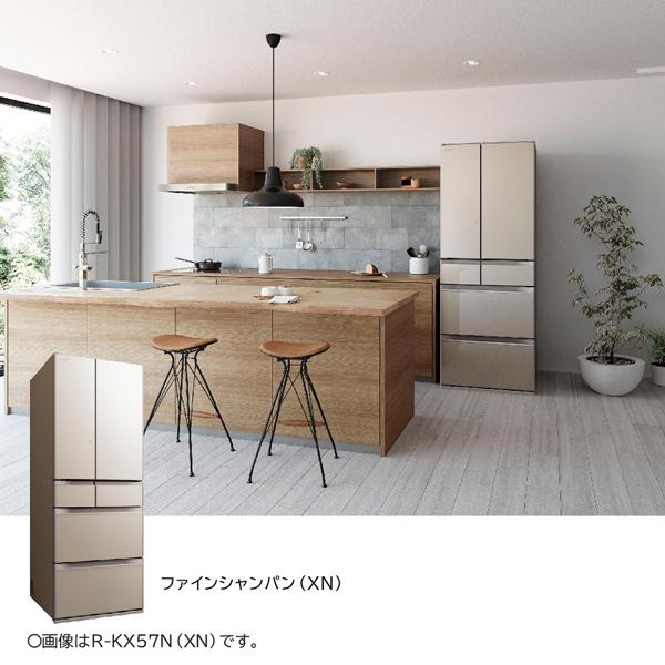 【標準設置工事付】日立 R-KX50N XN [冷蔵庫(498L・フレンチドア) 6ドア ファインシャンパン]
