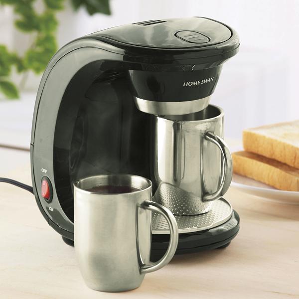 【新津興器】マグ付コーヒーメーカー(2杯用) 黒