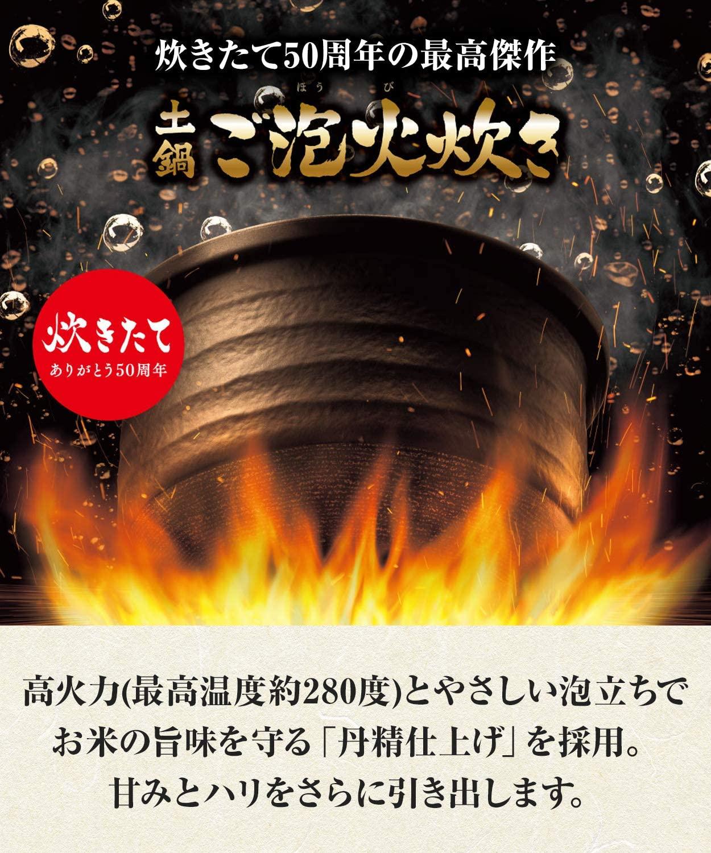 【タイガー】JPL-A100 KS [土鍋圧力IHジャー炊飯器 炊きたて 土鍋ご泡火炊き 5.5合炊き ストーンブラック]