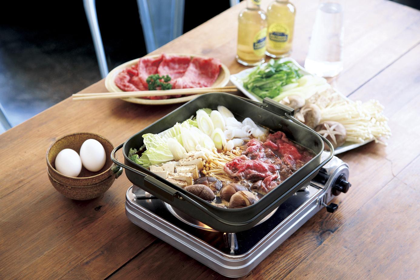 【和平フレイズ】鉄角型焼肉&すきやき鍋 約26×26×高さ5.8cm・満水容量3.4L・重量約1.4kg