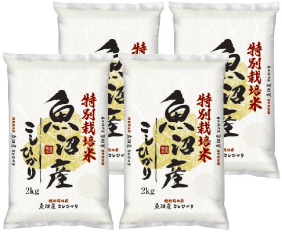 【新潟県】魚沼産コシヒカリ 特別栽培米 8㎏(2㎏×4)