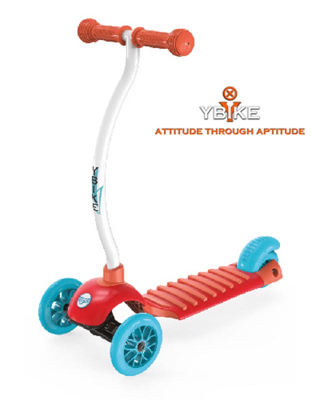 【YBike】CRUZE 3輪キックスクーター 約30×67×高さ56cm オレンジ