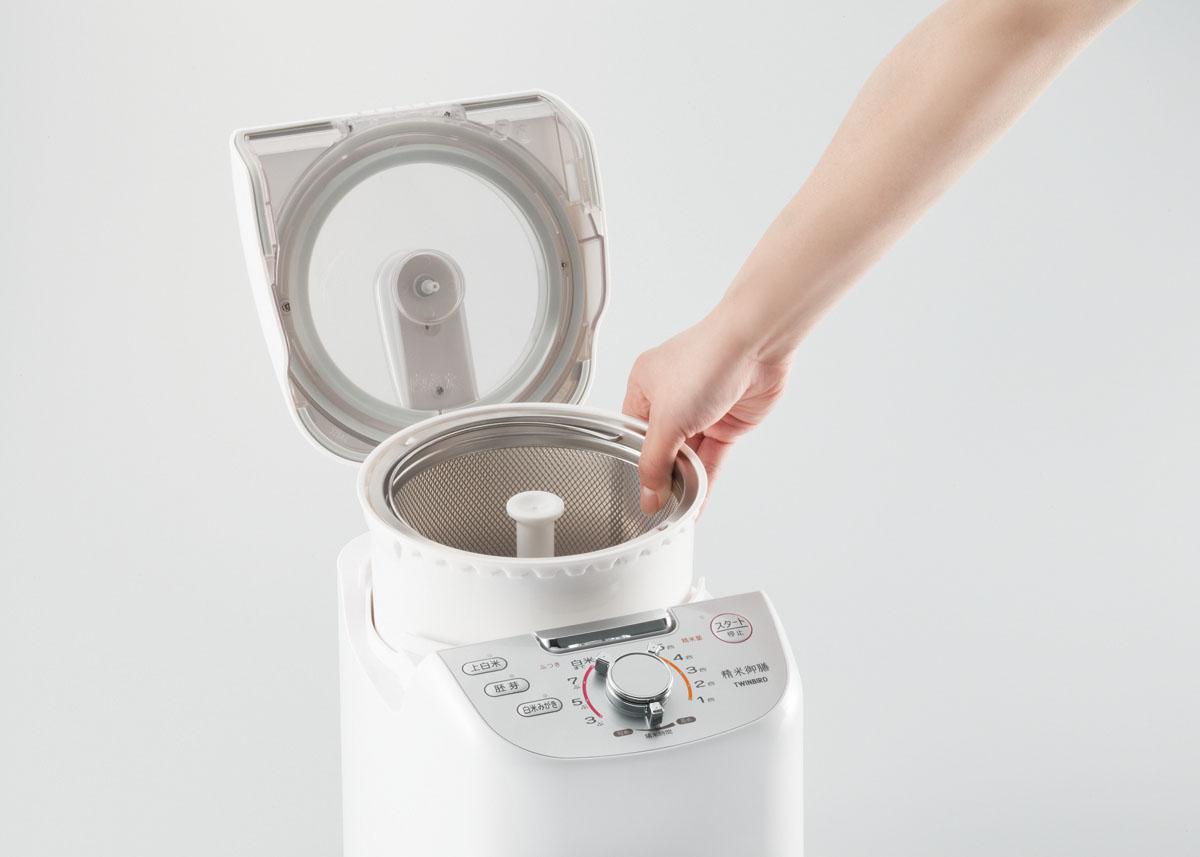 【ツインバード】コンパクト精米器 精米御膳