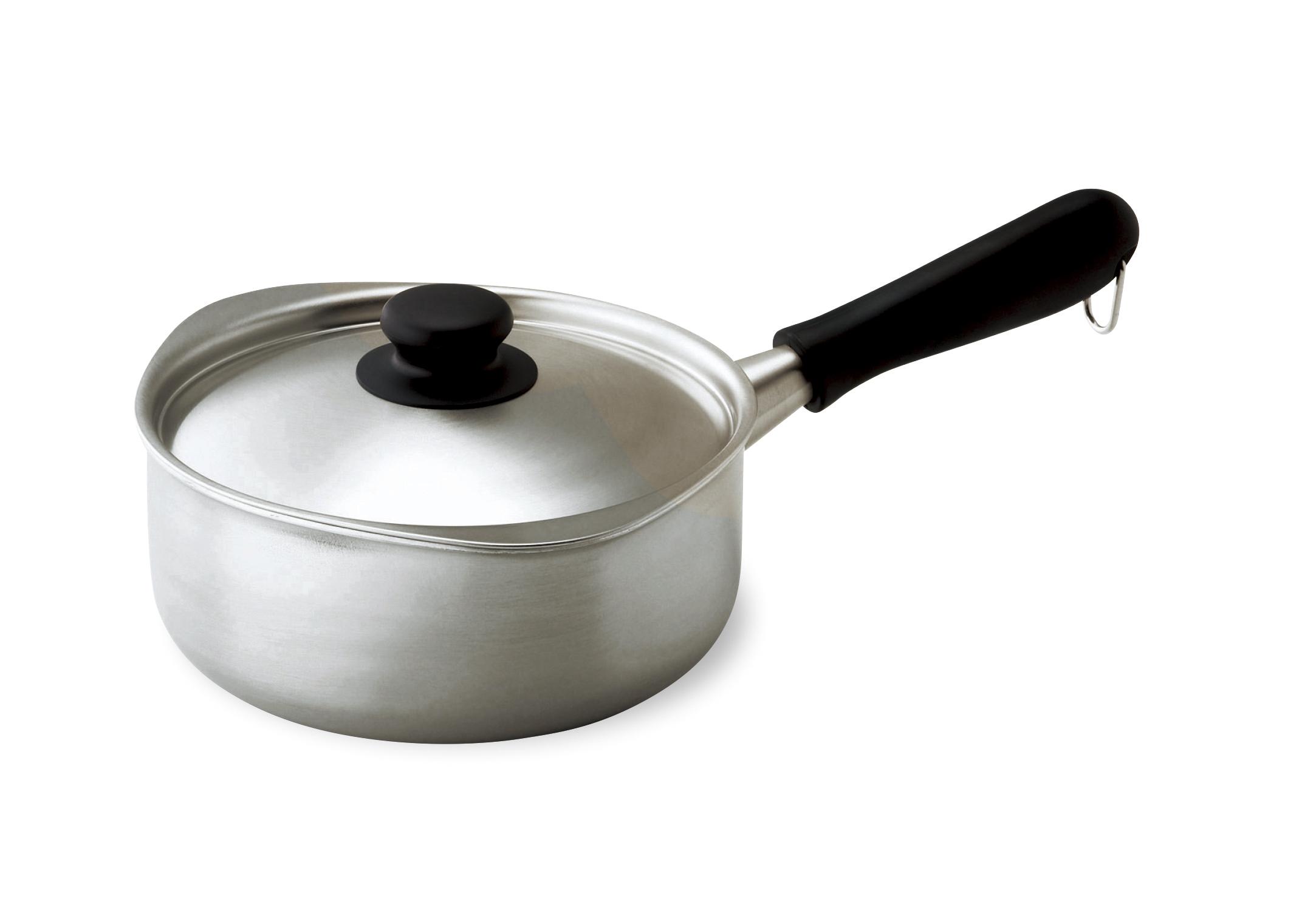 【柳宗理】 三層鋼片手鍋18cm 約18×21×高さ8.2cm・満水容量2L・重量約1.1kg