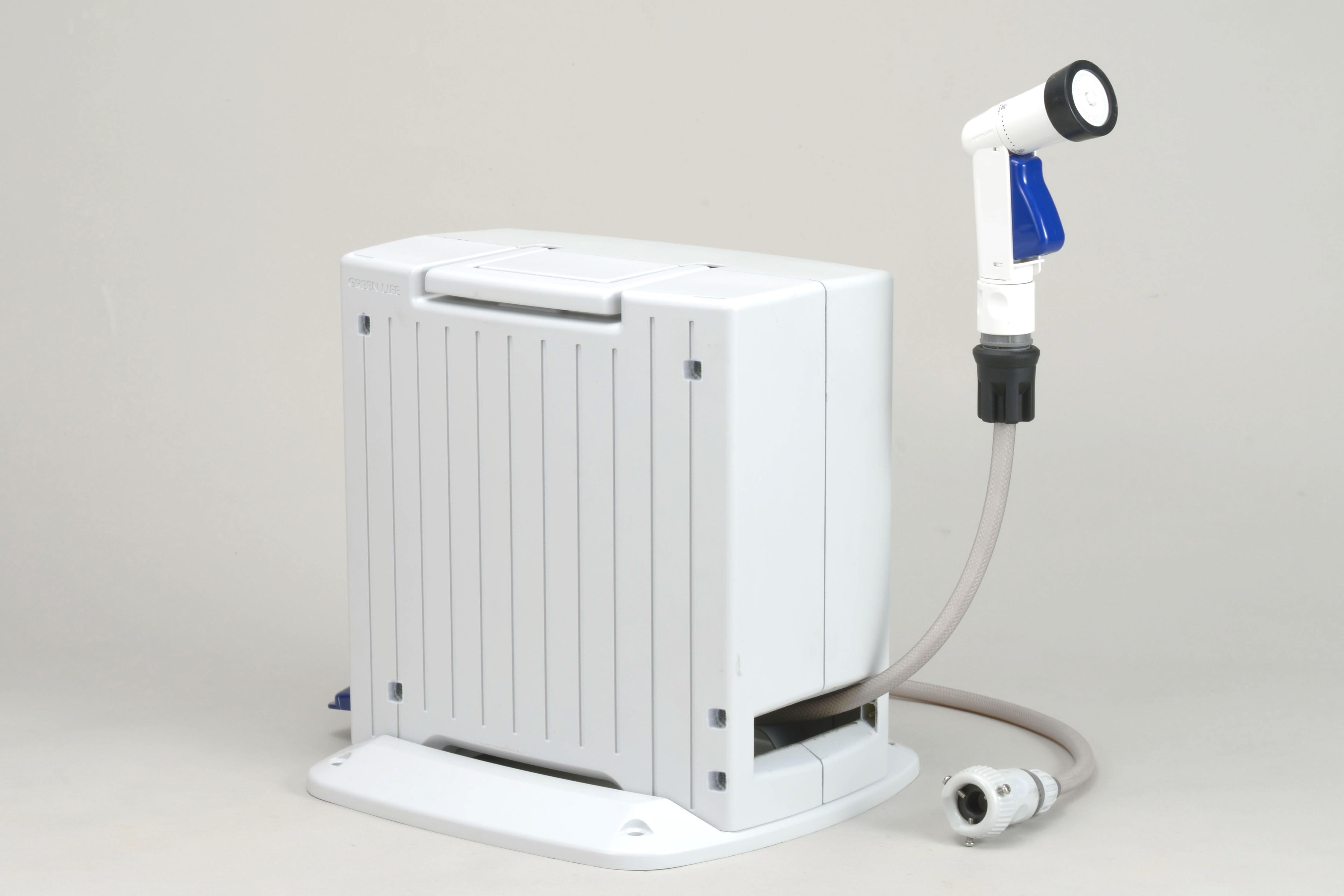 自動巻きホースリール&シャワー付蛇口コネクターセット