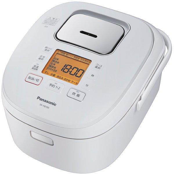 【パナソニック】SR-HB100-W IHジャー炊飯器 ダイヤモンド銅釜 5.5合炊き ホワイト