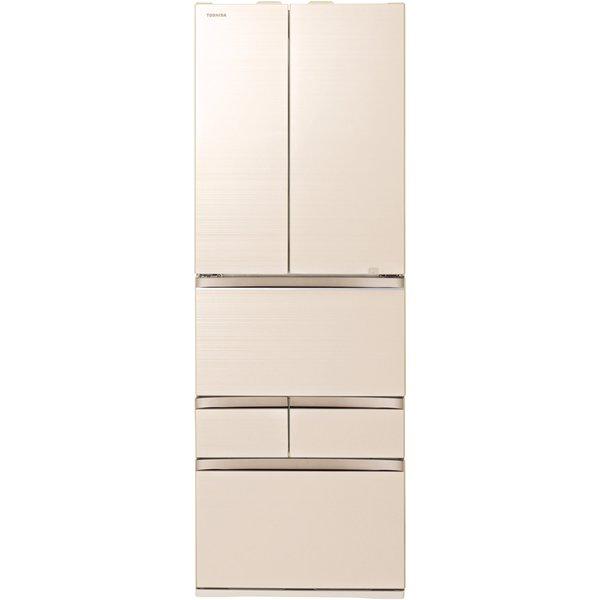 【標準設置対応付】東芝  冷蔵庫(461L・フレンチ) 6ドア VEGETA グレインアイボリー GR-T460FZ(UC)