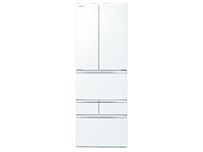 【標準設置対応付】東芝  冷蔵庫(461L・フレンチ) 6ドア VEGETAクリアグレインホワイト GR-T460FZ(UW)