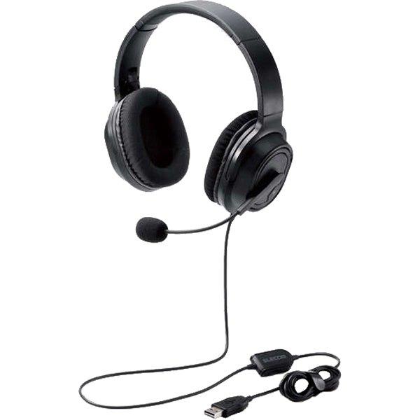 【エレコム】HS-HP30UBK オーバーヘッド/両耳/USB/40mmドライバ/ブラック