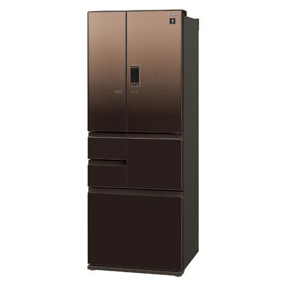 【標準設置対応付】シャープ  冷蔵庫 502L フレンチ6ドア グラデーションファブリックブラウン  SJ-AF50H-T
