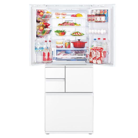 【標準設置対応付】シャープ  冷蔵庫 502L フレンチドア 6ドア ピュアホワイト  SJ-AF50H-W
