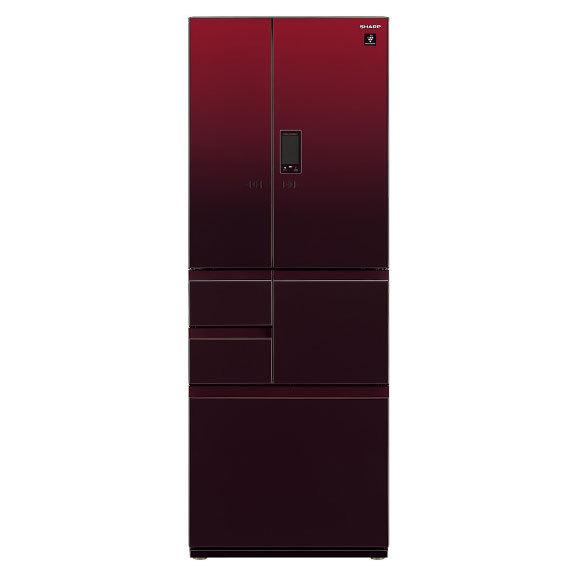 【標準設置対応付】シャープ  冷蔵庫 502L フレンチドア 6ドア グラデーションレッド   SJ-AF50H-R