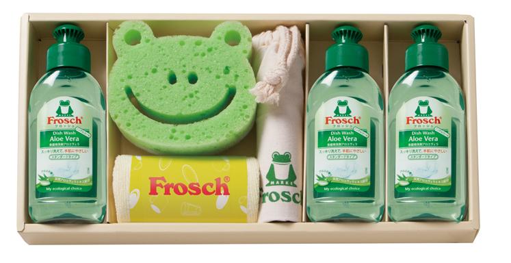 【プレーリードッグ】フロッシュキッチン洗剤ギフト フロッシュミニ・スポンジ・巾着・マイクロファイバークロス各1