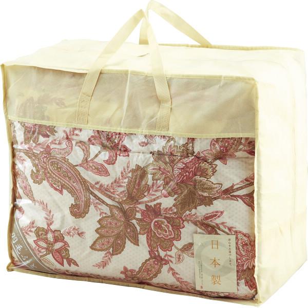 【大阪府】日本製 羽毛合い掛け布団 約150×210cm ピンク