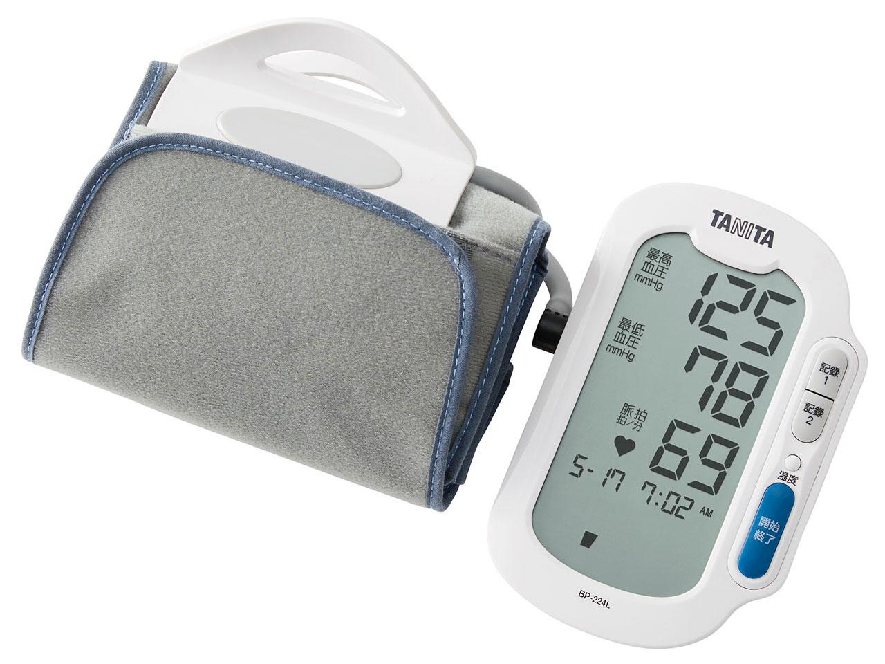 【タニタ】 上腕式血圧計 Bluetooth アプリ連動 ヘルスプラネット ホワイト BP-224L-WH
