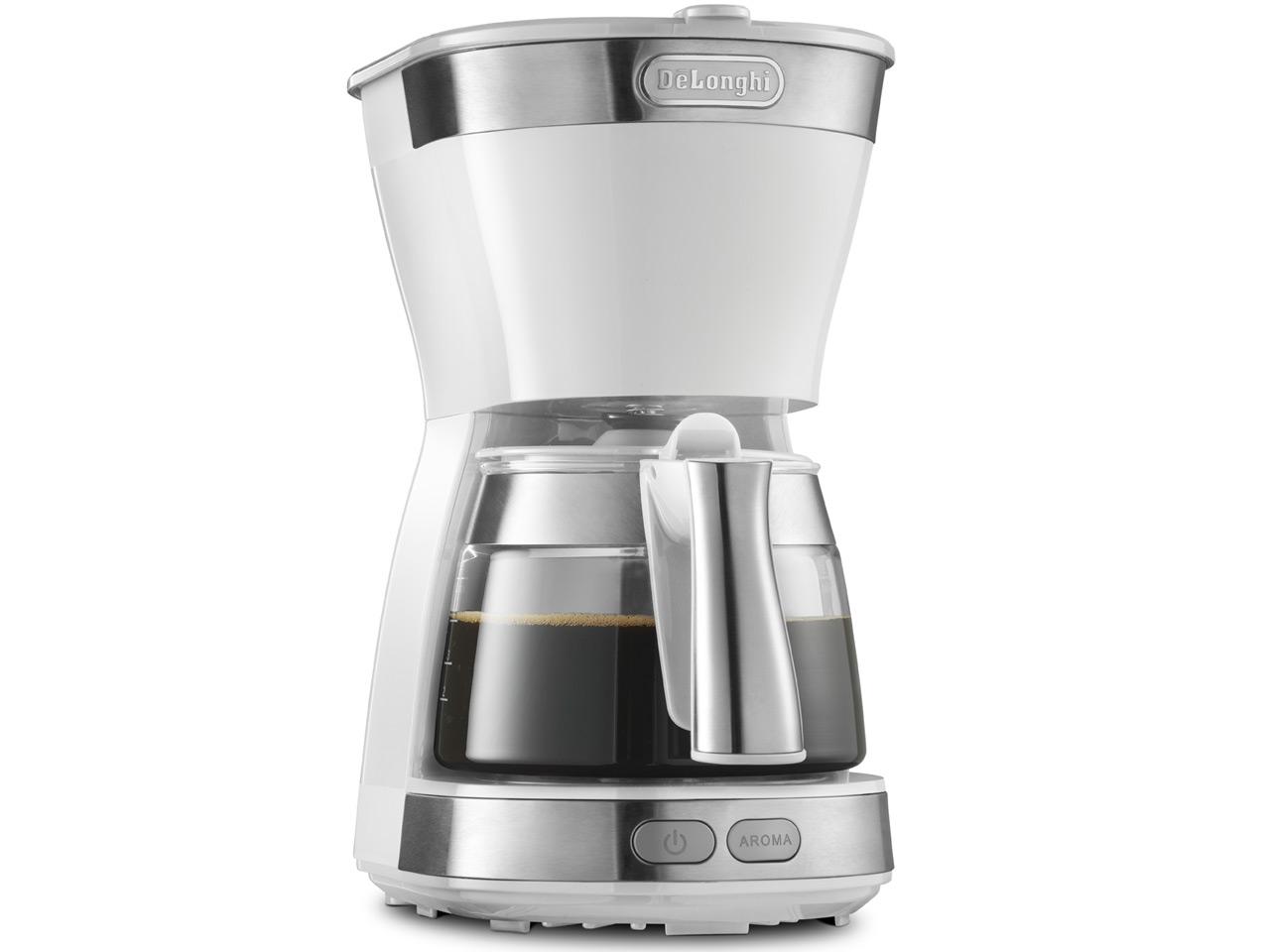 【デロンギ】アクティブ ドリップコーヒーメーカー トゥルーホワイト ICM12011J-W